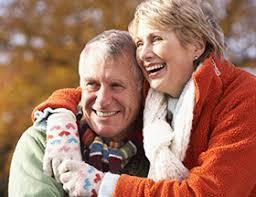 Widow dating  finding love again   EliteSingles EliteSingles Elderly couple smiling and hugging