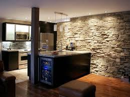 kitchen island with refrigerator kitchen wall light hardwood floor brown leather