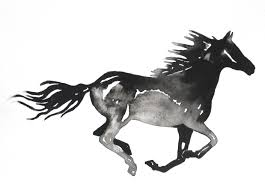 mustang horse silhouette horse silhouette wall art black and white horse print of