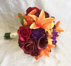 wedding flowers ebay fall harvest bridal bouquet calla lilies silk wedding flowers
