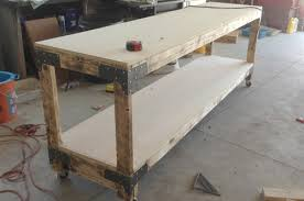 Easy Wood Workbench Plans by How To Build A Heavy Duty Workbench One Project Closer