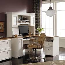 bush fairview l shaped computer desk with optional hutch antique