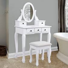 bathroom vanity table jewelry makeup desk hair dressing organizer