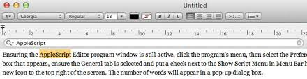 How To Count Words In Textedit In Mac Os X 5 Top Tips For Textedit Os X Tips Cult Of Mac