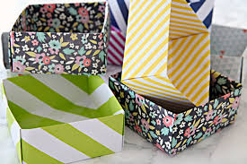 Decorative Paper Storage Boxes With Lids Iheart Organizing Diy Paper Box Drawer Organizers And An