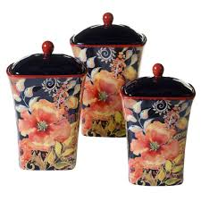 sunflower canister sets kitchen 3 piece paris sunflower canister set 25285 the home depot
