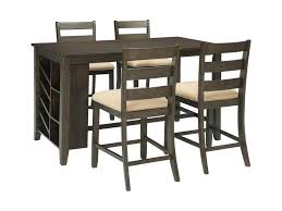 rectangle pub table sets signature design by ashley rokane 5 piece rectangular counter table
