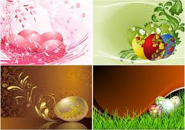 free easter cards easter card templates with eggs vector free stock vector