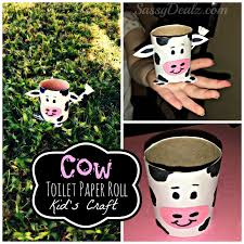 cow toilet paper roll craft for kids farm activity crafty morning