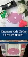 organize kids clothes free printables happy family blog
