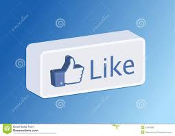 like facebook button 3d editorial photography image 24552982