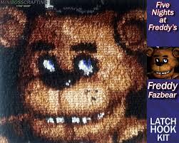 five nights at freddy u0027s freddy fazbear latch hook kit diy