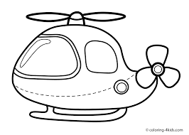 helicopter coloring page for kids transportation coloring pages
