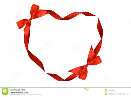 bows and ribbons heart from ribbons and bows stock photo image of elegance