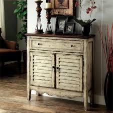 Antique Storage Cabinet Venetian Worldwide Hazen Louver Antique White And Brown Storage