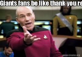 Giants Memes - meme creator giants fans be like thank you redskins you did what