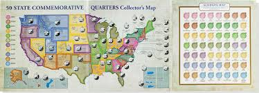 50 State Map Amazon Com 50 State Commemorative Quarters Collector U0027s Map