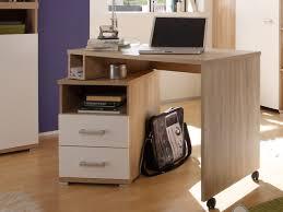 Schreibtisch Eiche Modern Cassian Schreibtisch Eiche Sonoma Weiß