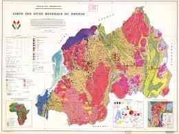 Rwanda Africa Map by