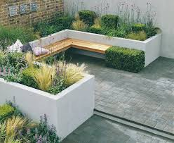 Raised Patio Planter by Garden Seating And Planters Made From Rendered Block Work