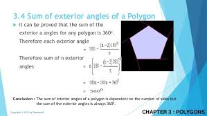The Sum Of Interior Angles Polygons