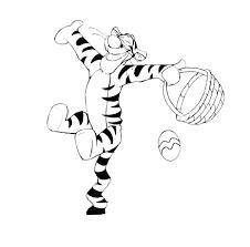 winnie pooh tigger easter coloring printable free easter