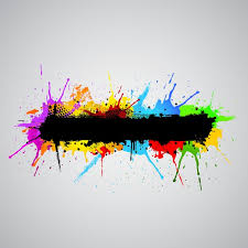 abstract grunge background with colourful paint splashes vector
