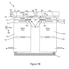 patent us8205387 delayed egress sliding door and method google