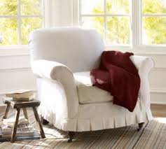 What Is An Armchair Arm Chair White Twill Foter