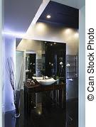 Bathroom With Black Walls Stock Images Of Modern Bathroom With Checkered Black And White