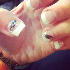 indian feather french tip nails beauty pinterest indian
