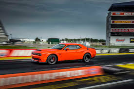 widebody muscle cars 2018 dodge challenger srt demon driven this muscle car sends