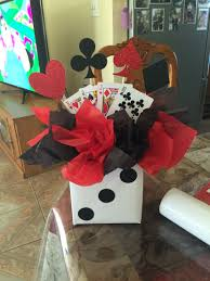 theme centerpiece casino themed birthday party centerpiece pinteres