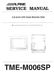 alpine tmem006sp service manual immediate download
