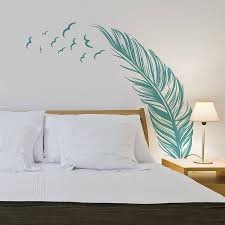 feather with flying birds wall sticker wall sticker feathers feather with flying birds wall sticker