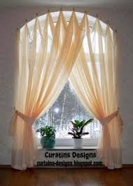 Half Height Curtains Half Circle Window Curtains Arched Windows Curtains On The Hooks