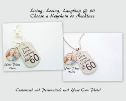 60 year birthday gift 60th birthday keychain necklace custom 60th birthday gift custom