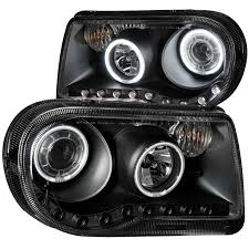 chrysler 300c black anzo usa chrysler 300c 05 10 projector headlights g2 halos led