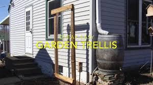 cheap easy diy garden trellis youtube