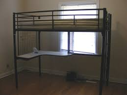 black metal twin loft bed with desk loft bed with desk for adults with well made coaster twin futon loft