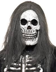 Skeleton Mask Sinister Skeleton Mask With Hair 38201 Fancy Dress Ball