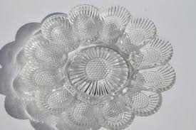 glass egg plate pressed glass egg plates divided relish trays for deviled eggs
