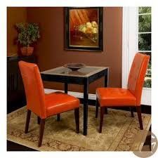Beautiful Orange Dining Room Sets Contemporary Rustic Leather - Burnt orange dining room