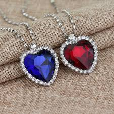 aliexpress heart necklace images Sg fashion 20pcs lot titanic heart of the sea necklace with blue jpg