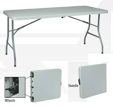 Folding Table On Wheels Office Star Plastic Resin Fold In Half Table W Wheels 30