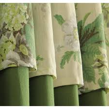 Patterned Curtains And Drapes Green Patterned Linen Elegant Pastoral Curtains And Drapes