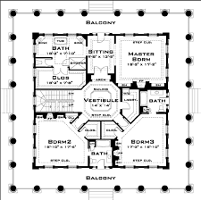 Bath Floor Plans Classical Style House Plan 3 Beds 3 50 Baths 4500 Sq Ft Plan 64 157