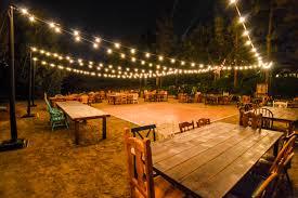 beautiful rustic wedding decor idea using outdoor wedding string