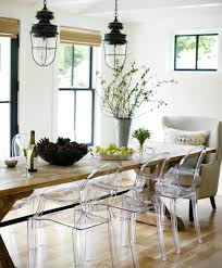 Clear Dining Room Table Clear Dining Chairs With Wood Table Dining Chairs Design Ideas