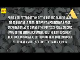 printable area change how can i enlarge the font size on a pdf to print it youtube